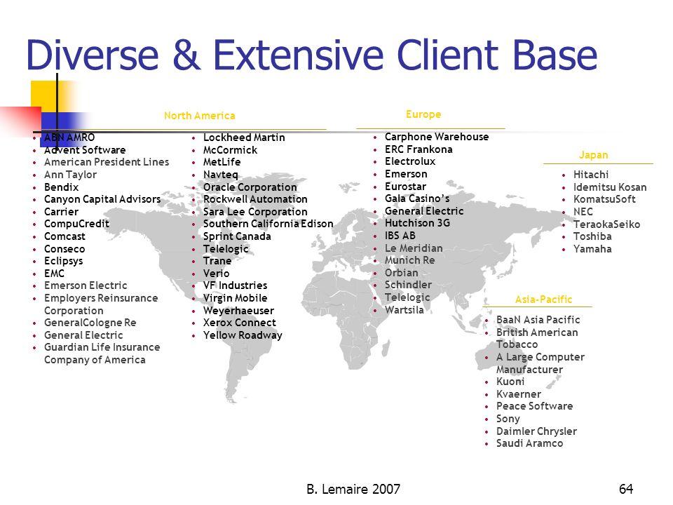 Diverse & Extensive Client Base