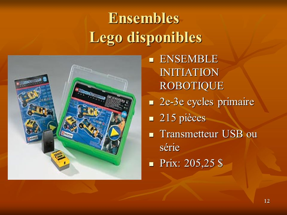 Ensembles Lego disponibles