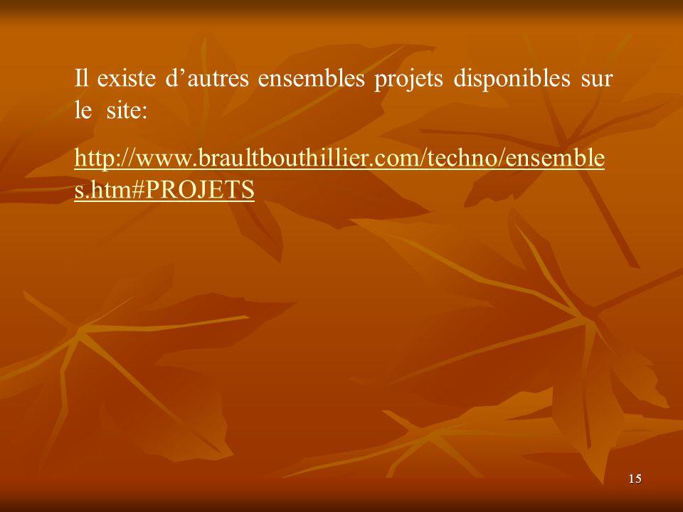 Il existe d'autres ensembles projets disponibles sur le site: