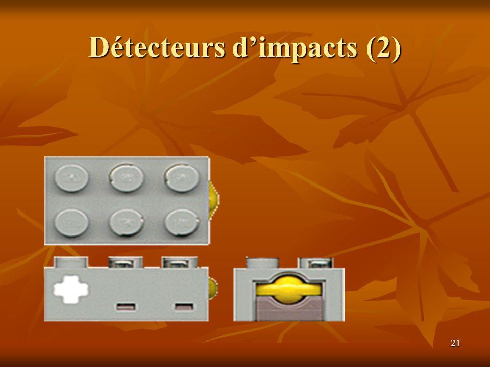 Détecteurs d'impacts (2)