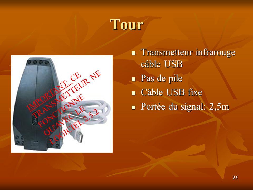 Tour Transmetteur infrarouge câble USB Pas de pile Câble USB fixe