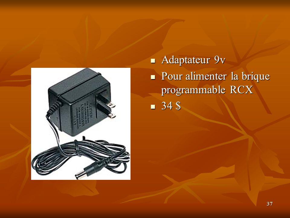 Adaptateur 9v Pour alimenter la brique programmable RCX 34 $