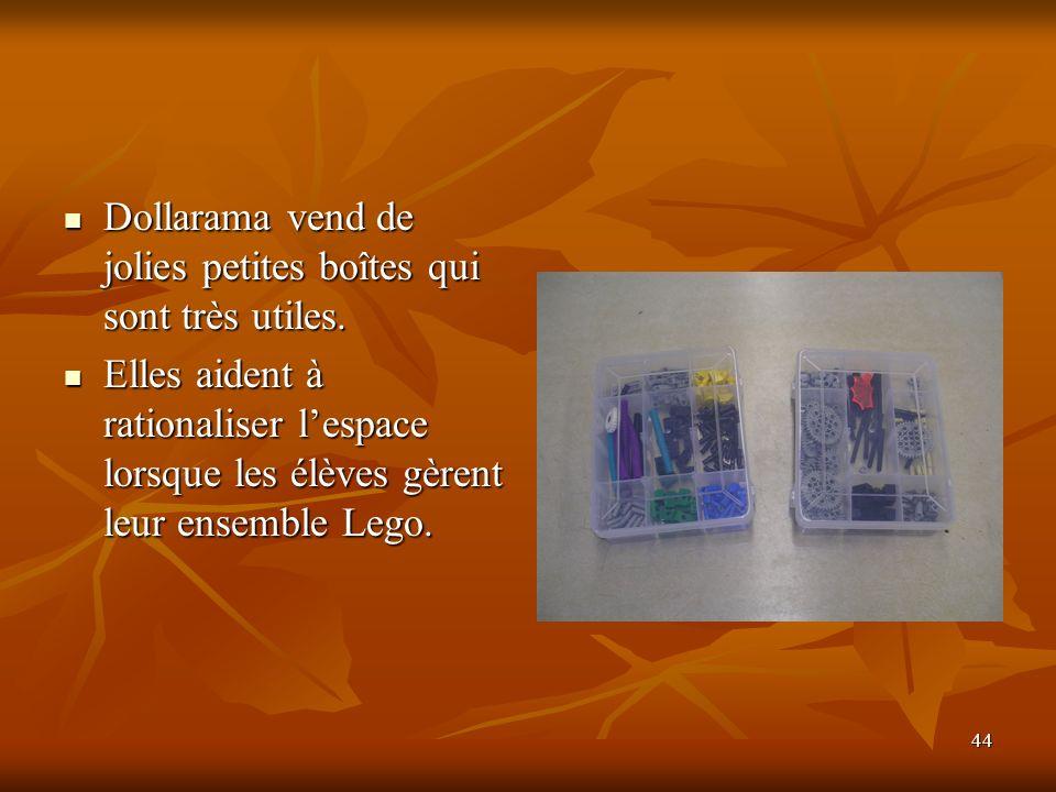 Dollarama vend de jolies petites boîtes qui sont très utiles.
