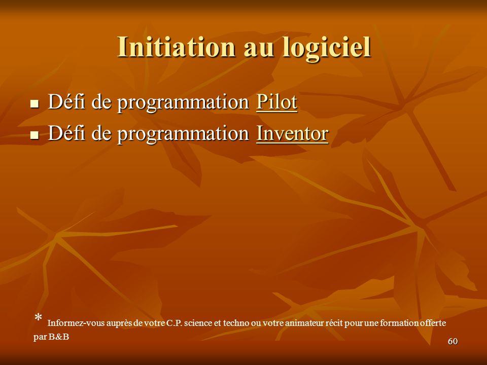 Initiation au logiciel