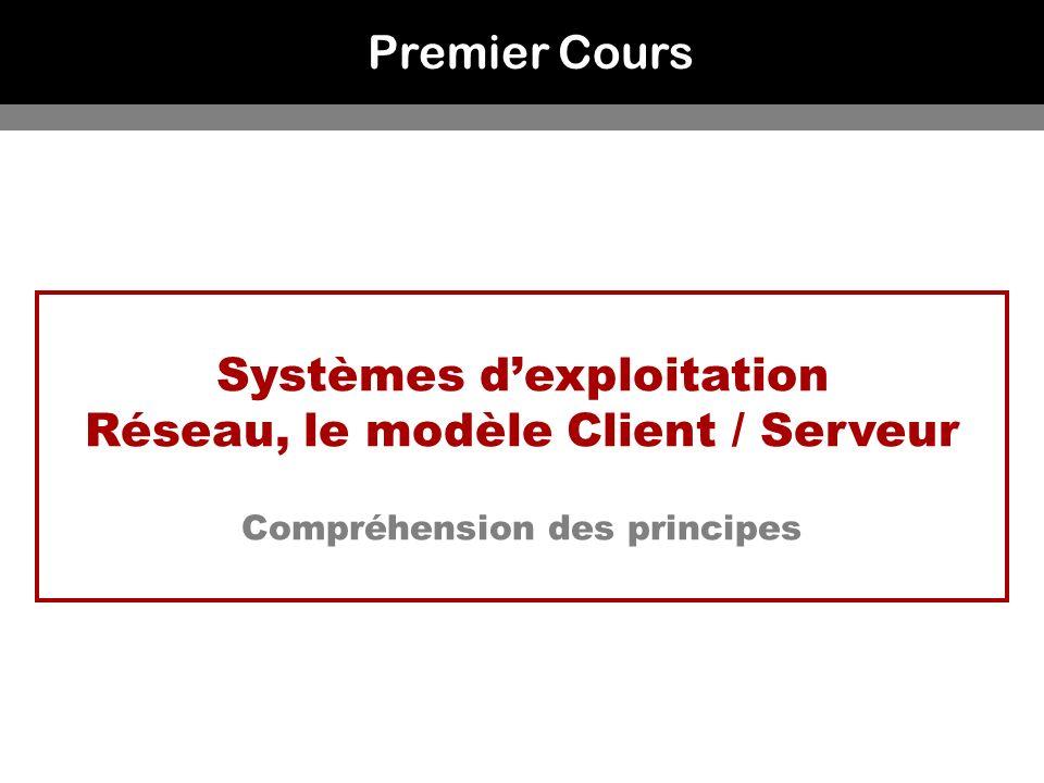 Systèmes d'exploitation Réseau, le modèle Client / Serveur