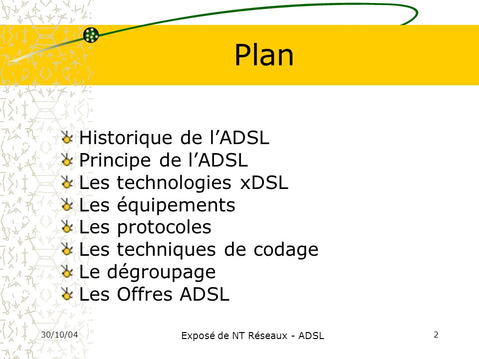 Exposé de NT Réseaux - ADSL