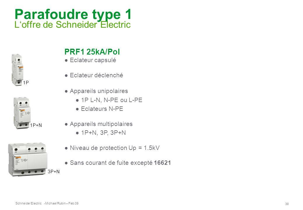 Parafoudre type 1 L'offre de Schneider Electric