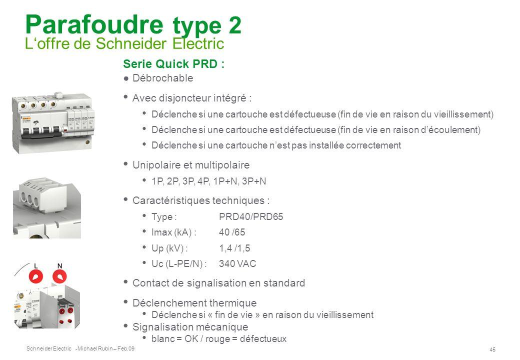 Parafoudre type 2 L'offre de Schneider Electric