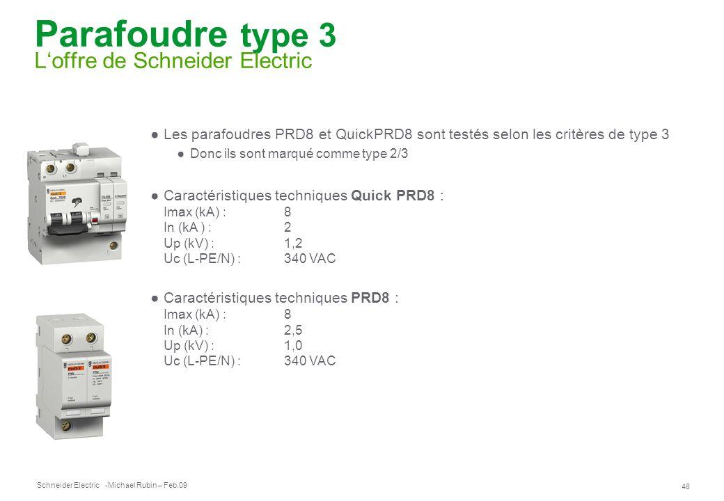 Parafoudre type 3 L'offre de Schneider Electric