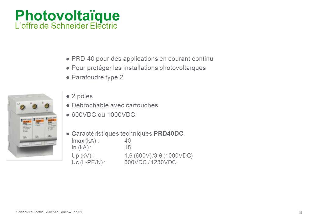 Photovoltaïque L'offre de Schneider Electric
