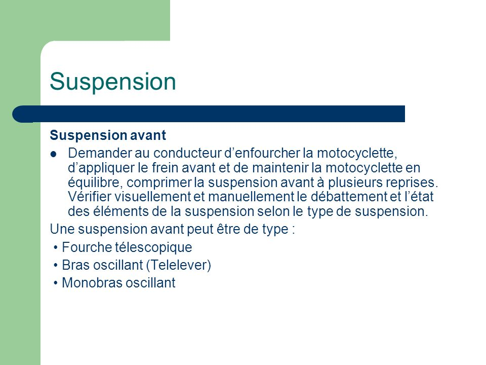 Suspension Suspension avant