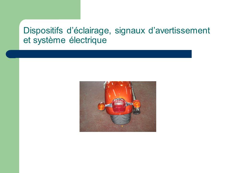 Dispositifs d'éclairage, signaux d'avertissement et système électrique