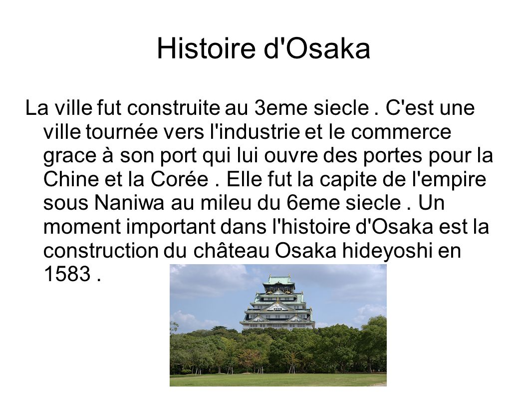 Histoire d Osaka