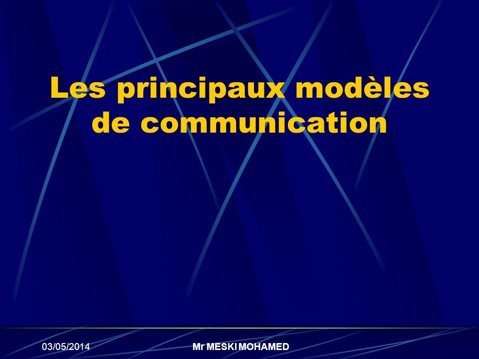Les principaux modèles de communication