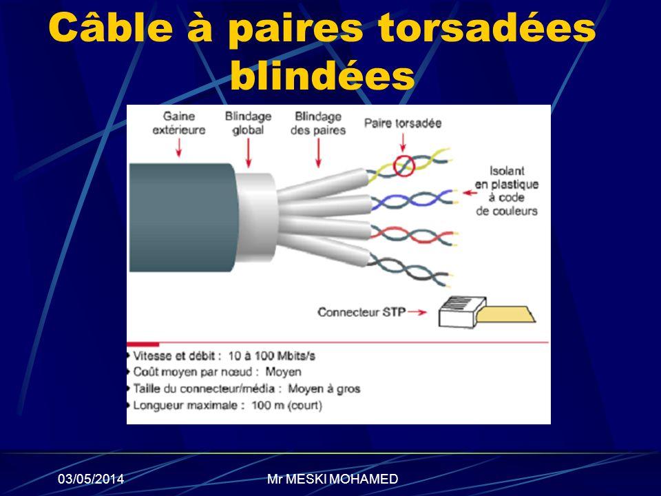 Câble à paires torsadées blindées