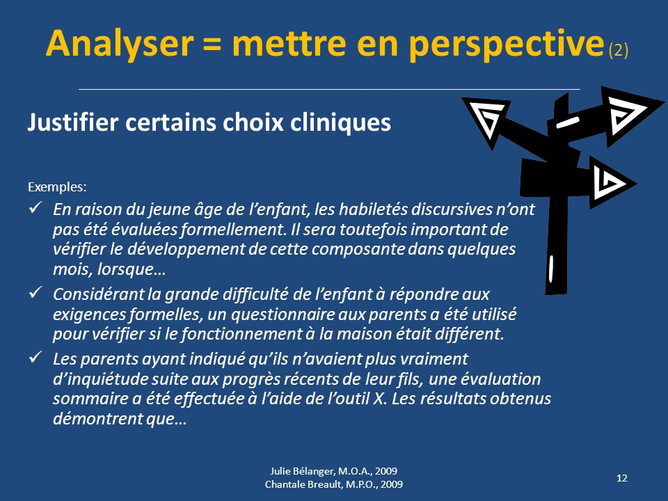 Analyser = mettre en perspective (2)