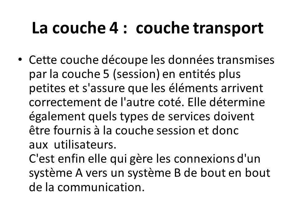 La couche 4 : couche transport