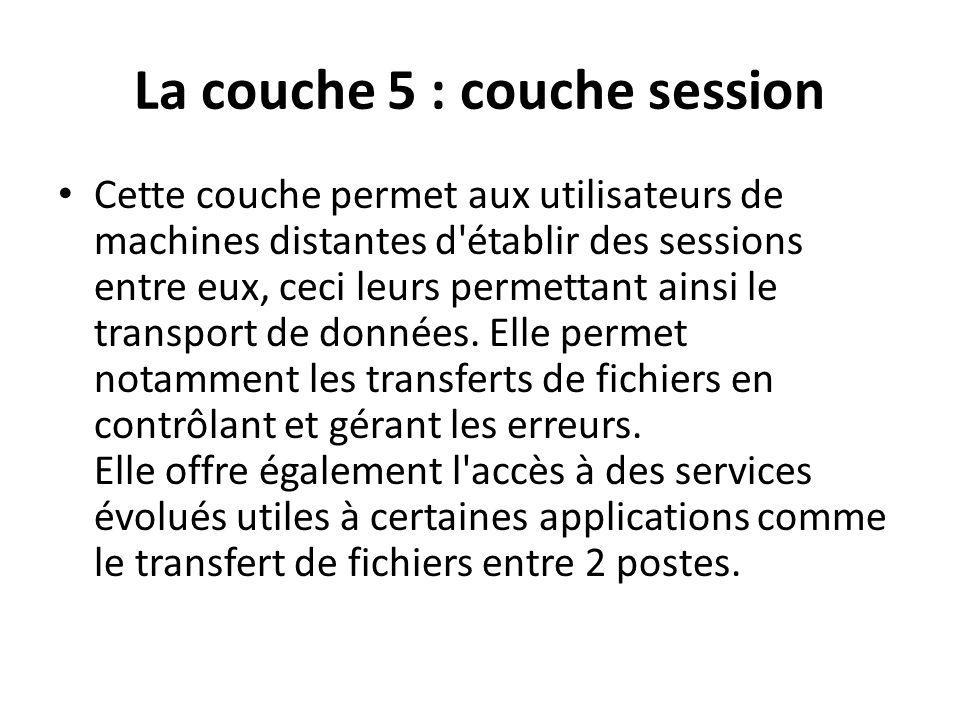 La couche 5 : couche session