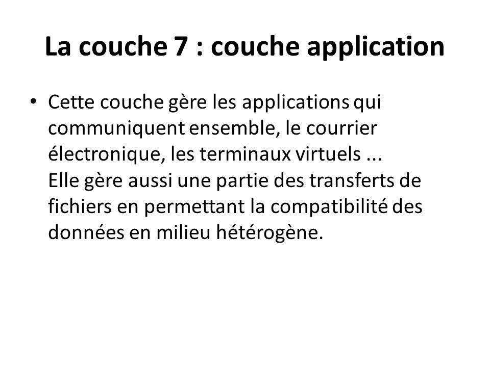 La couche 7 : couche application