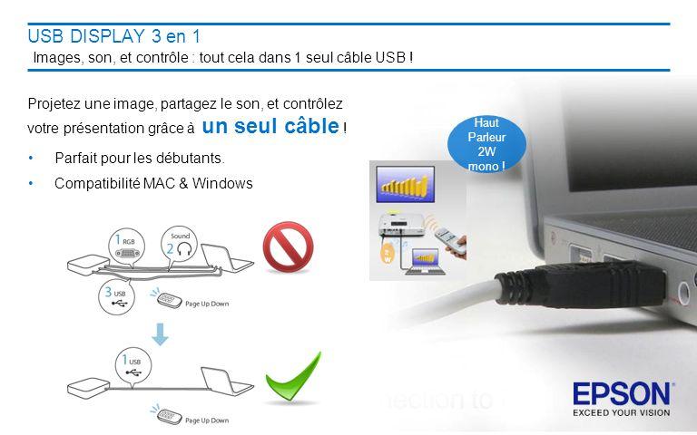 USB DISPLAY 3 en 1 Images, son, et contrôle : tout cela dans 1 seul câble USB !