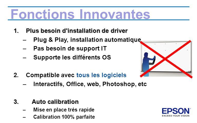 Fonctions Innovantes Plus besoin d installation de driver
