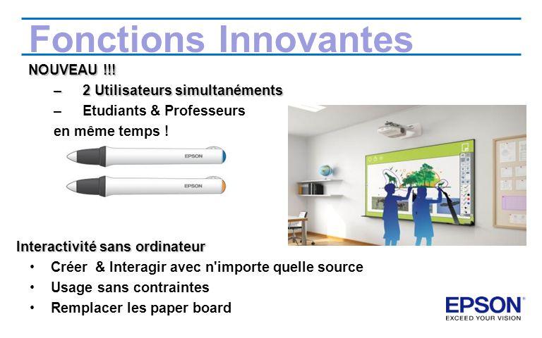 Fonctions Innovantes NOUVEAU !!! 2 Utilisateurs simultanéments