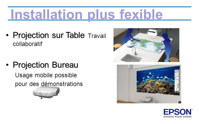 Installation plus fexible