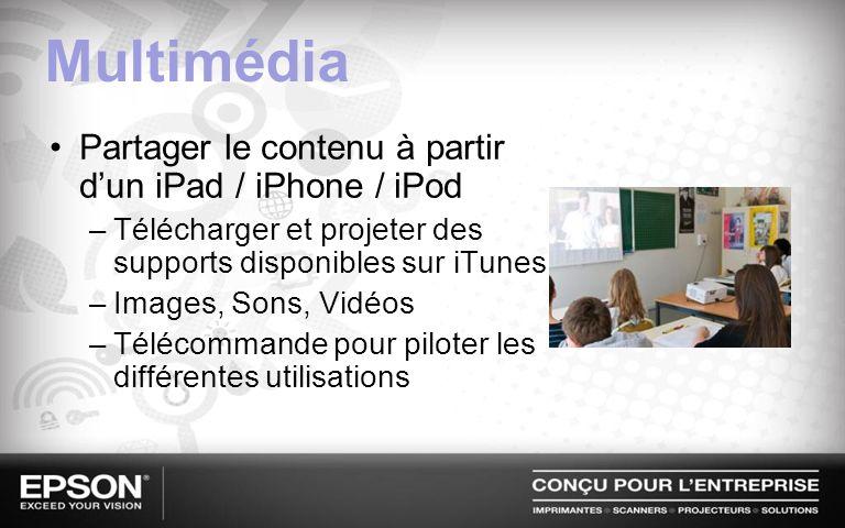 Multimédia Partager le contenu à partir d'un iPad / iPhone / iPod