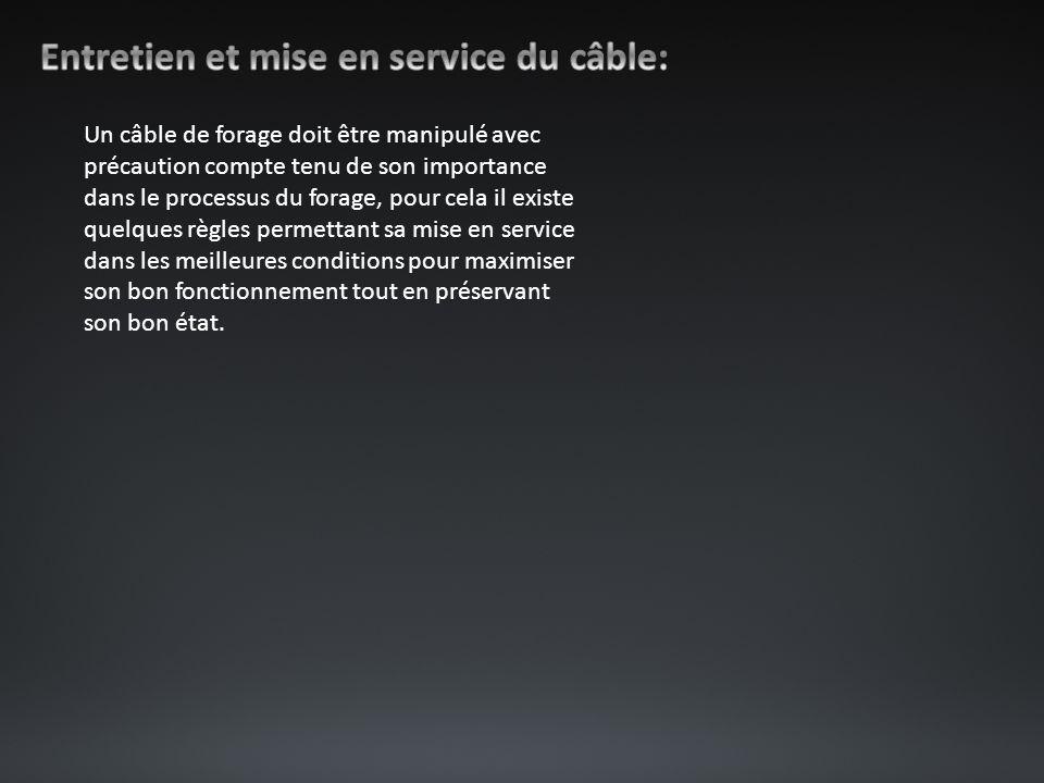 Entretien et mise en service du câble: