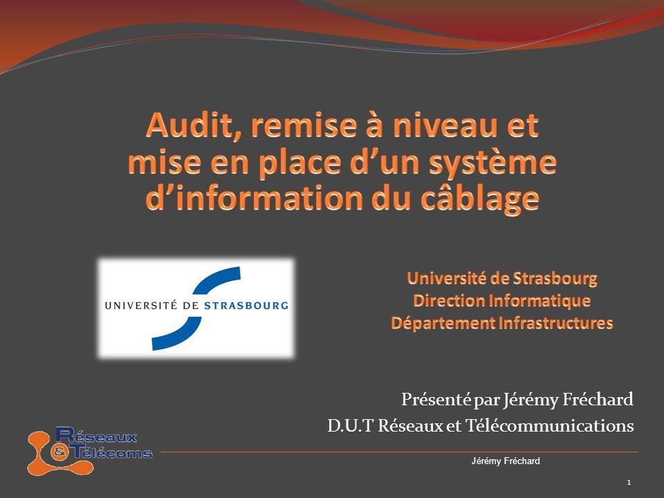 Présenté par Jérémy Fréchard D.U.T Réseaux et Télécommunications