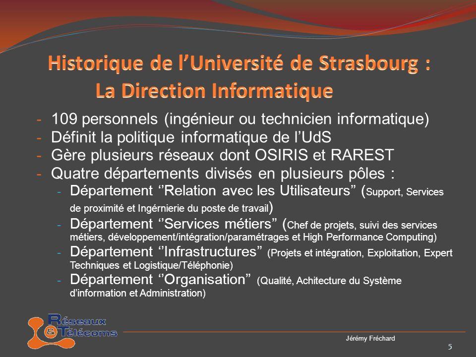Historique de l'Université de Strasbourg : La Direction Informatique