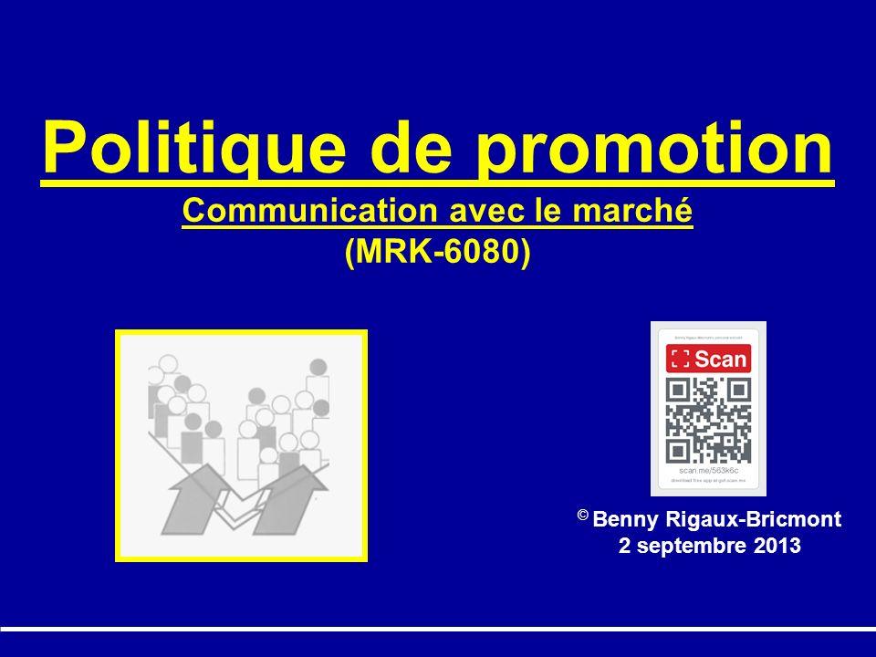 Politique de promotion Communication avec le marché