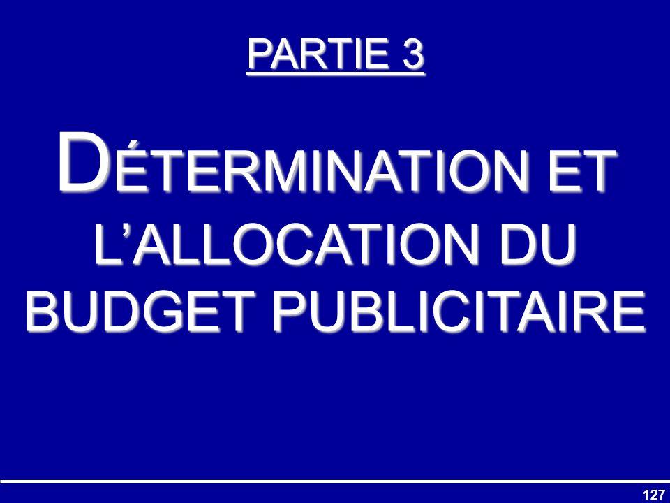 DÉTERMINATION ET L'ALLOCATION DU BUDGET PUBLICITAIRE