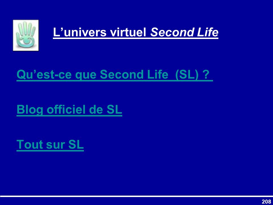 L'univers virtuel Second Life