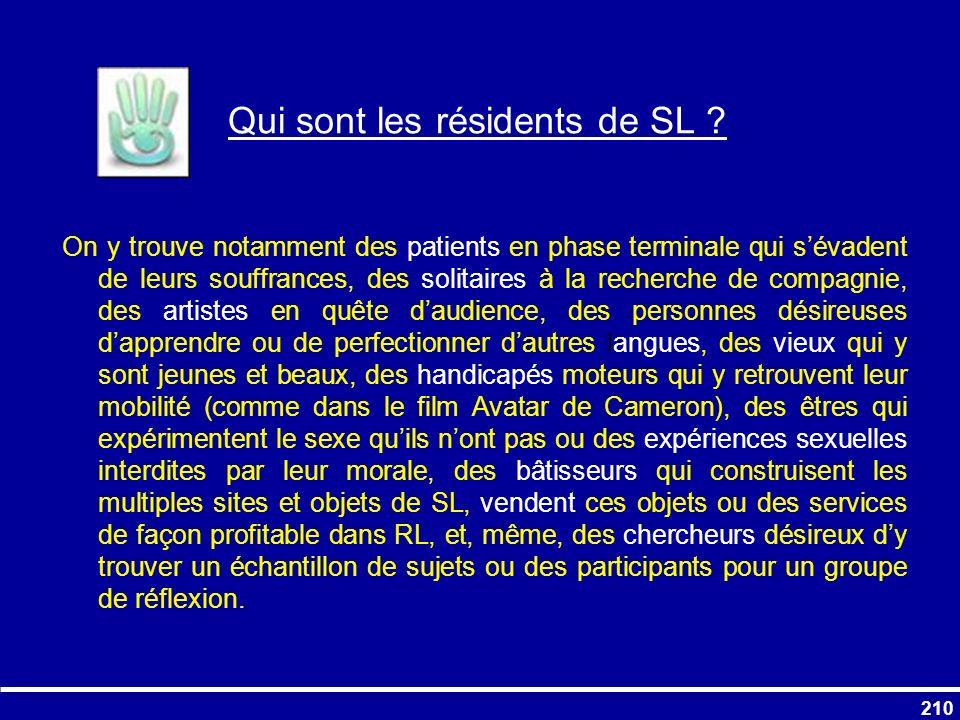 Qui sont les résidents de SL