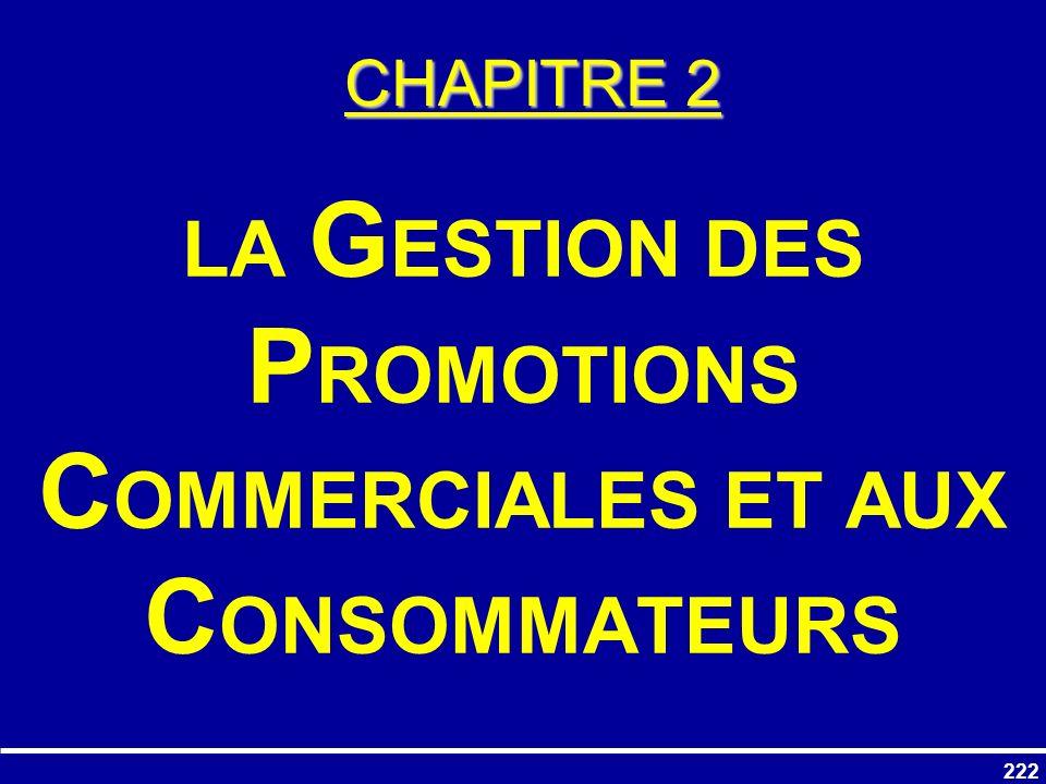 LA GESTION DES PROMOTIONS COMMERCIALES ET AUX CONSOMMATEURS