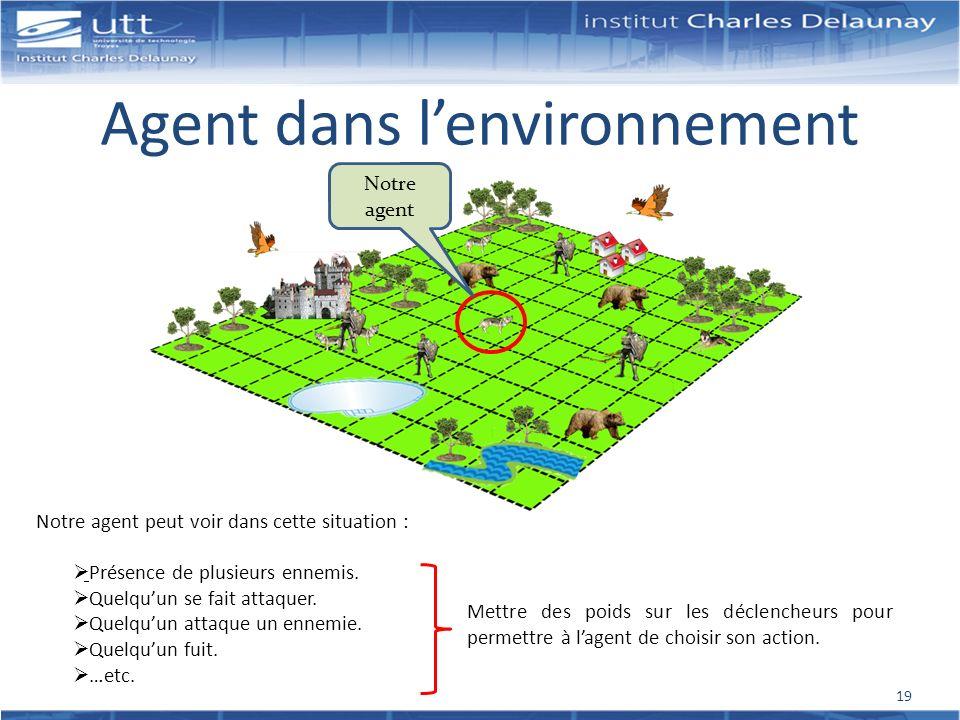 Agent dans l'environnement