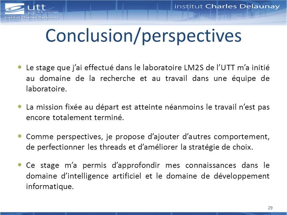 Conclusion/perspectives