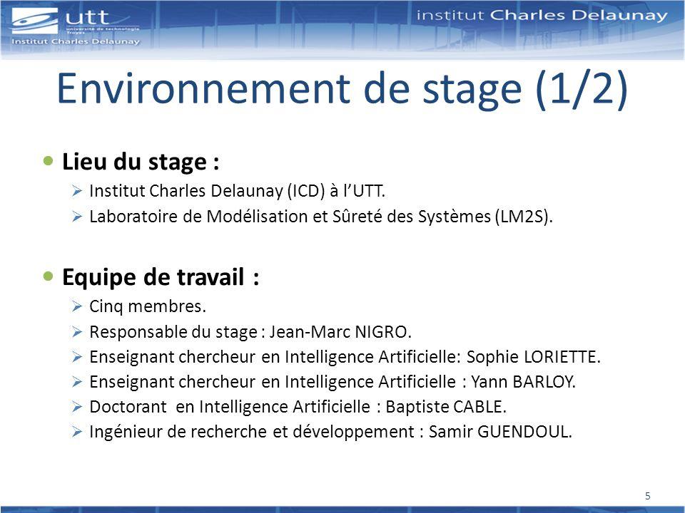 Environnement de stage (1/2)