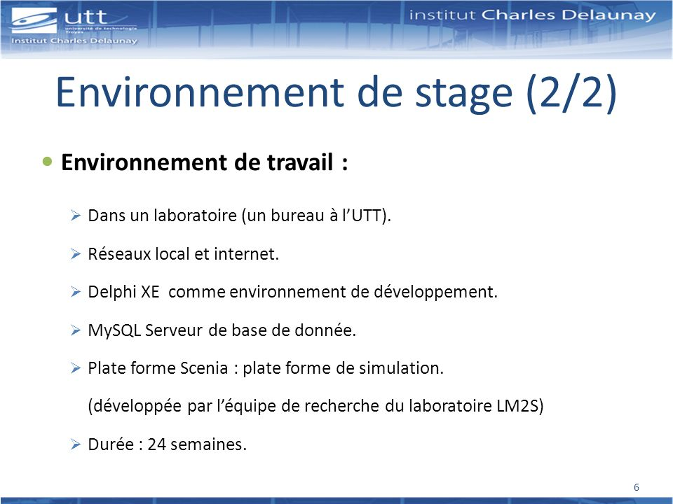 Environnement de stage (2/2)