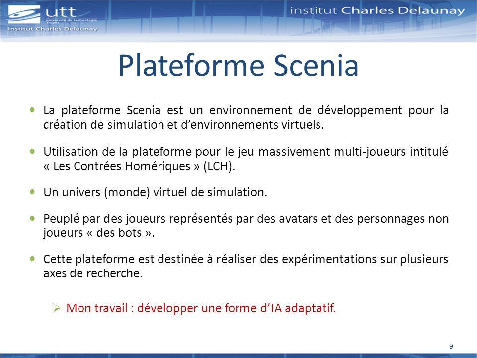 Plateforme Scenia La plateforme Scenia est un environnement de développement pour la création de simulation et d'environnements virtuels.