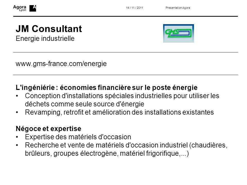 JM Consultant Energie industrielle www.gms-france.com/energie