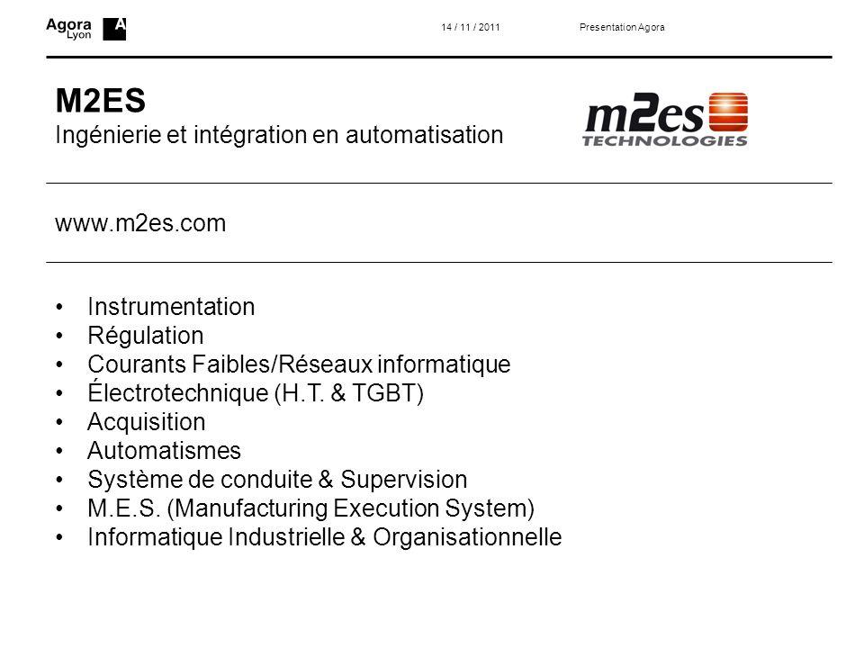 M2ES Ingénierie et intégration en automatisation www.m2es.com