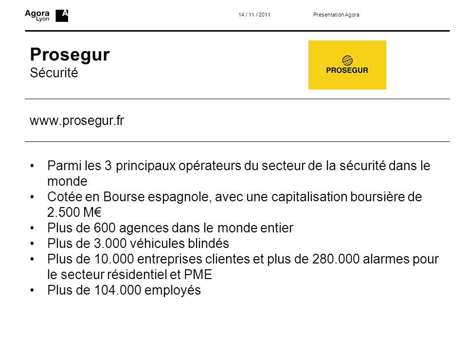 Prosegur Sécurité www.prosegur.fr