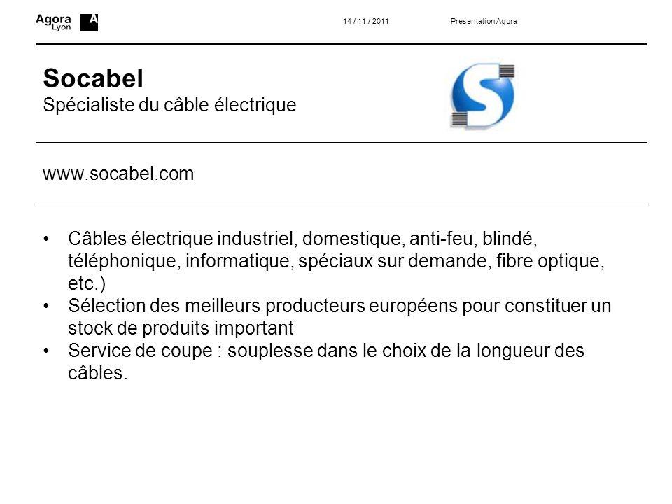 Socabel Spécialiste du câble électrique www.socabel.com