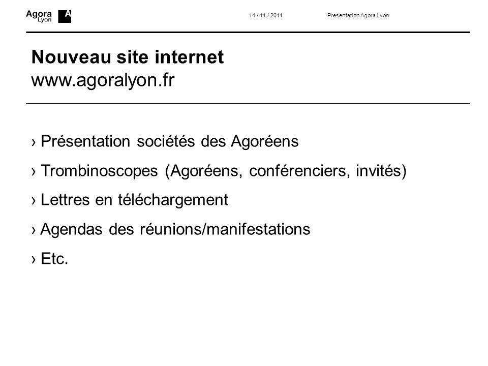 Nouveau site internet www.agoralyon.fr