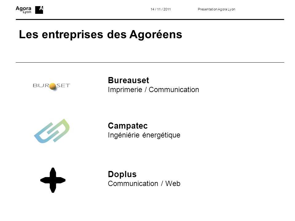 Les entreprises des Agoréens