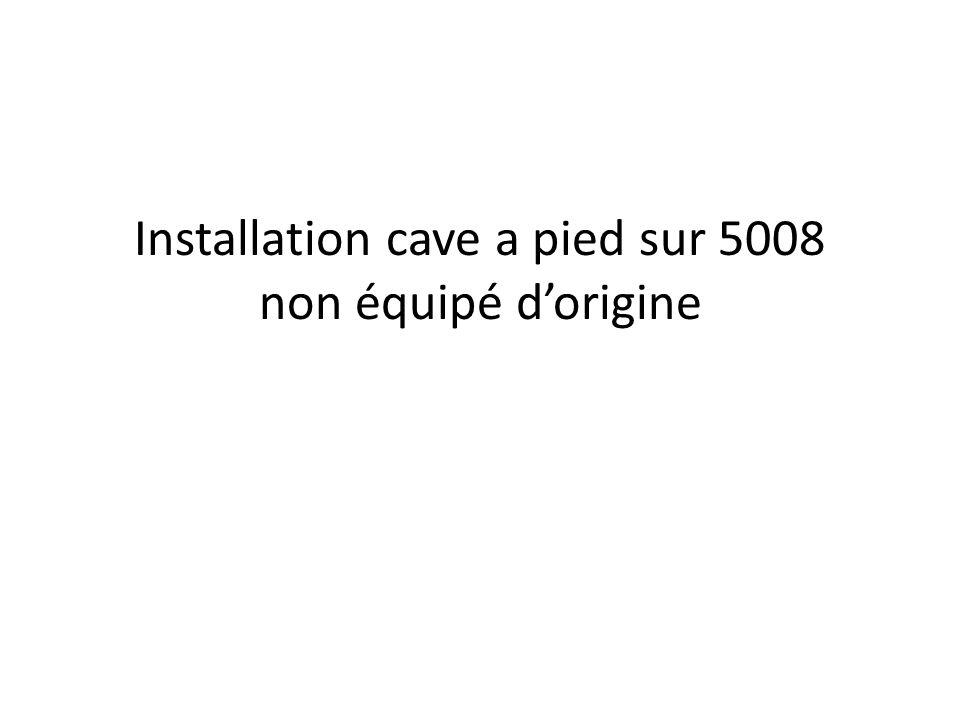Installation cave a pied sur 5008 non équipé d'origine