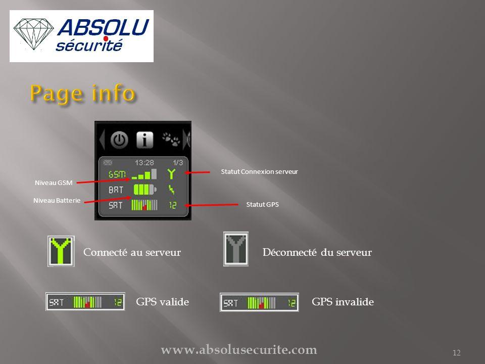 Page info www.absolusecurite.com Connecté au serveur