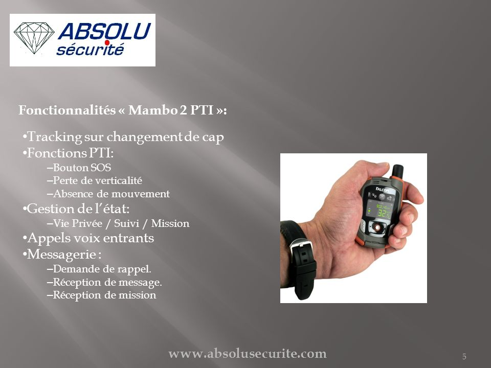 Fonctionnalités « Mambo 2 PTI »: